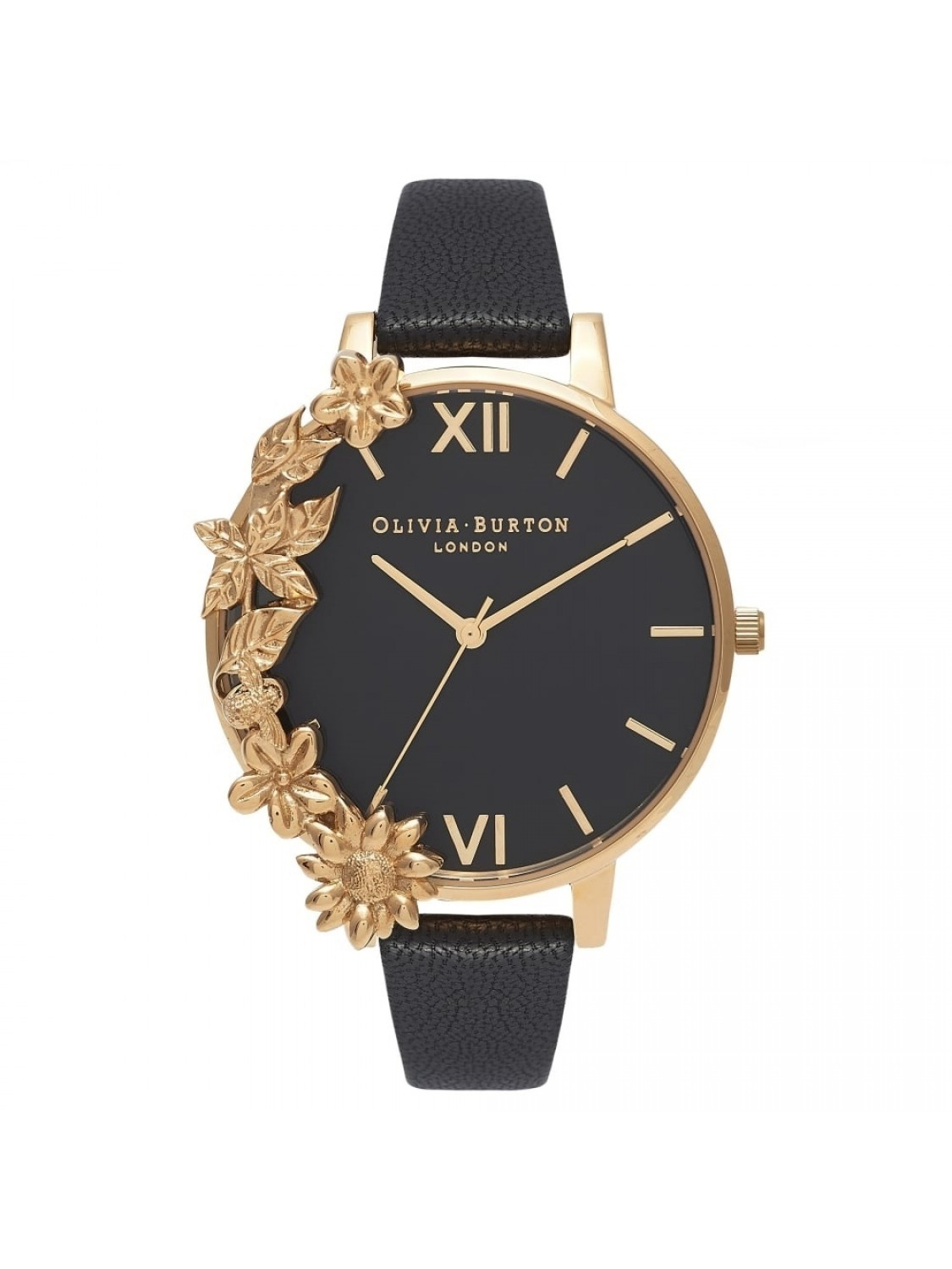 Olivia Burton Case Cuff Black Dial and Gold-31
