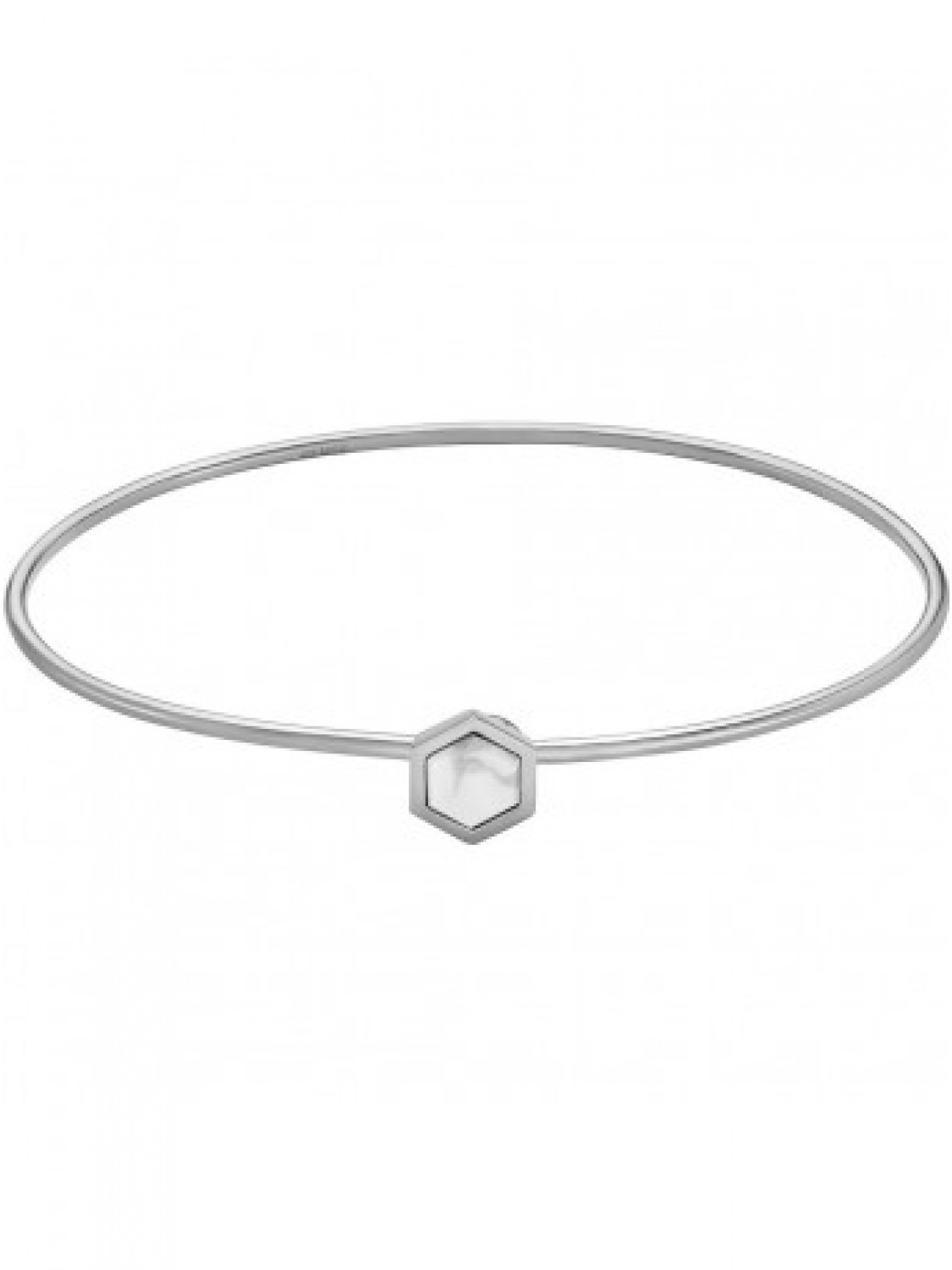 Cluse Idylle Silver Marble Hexagon Bracelet