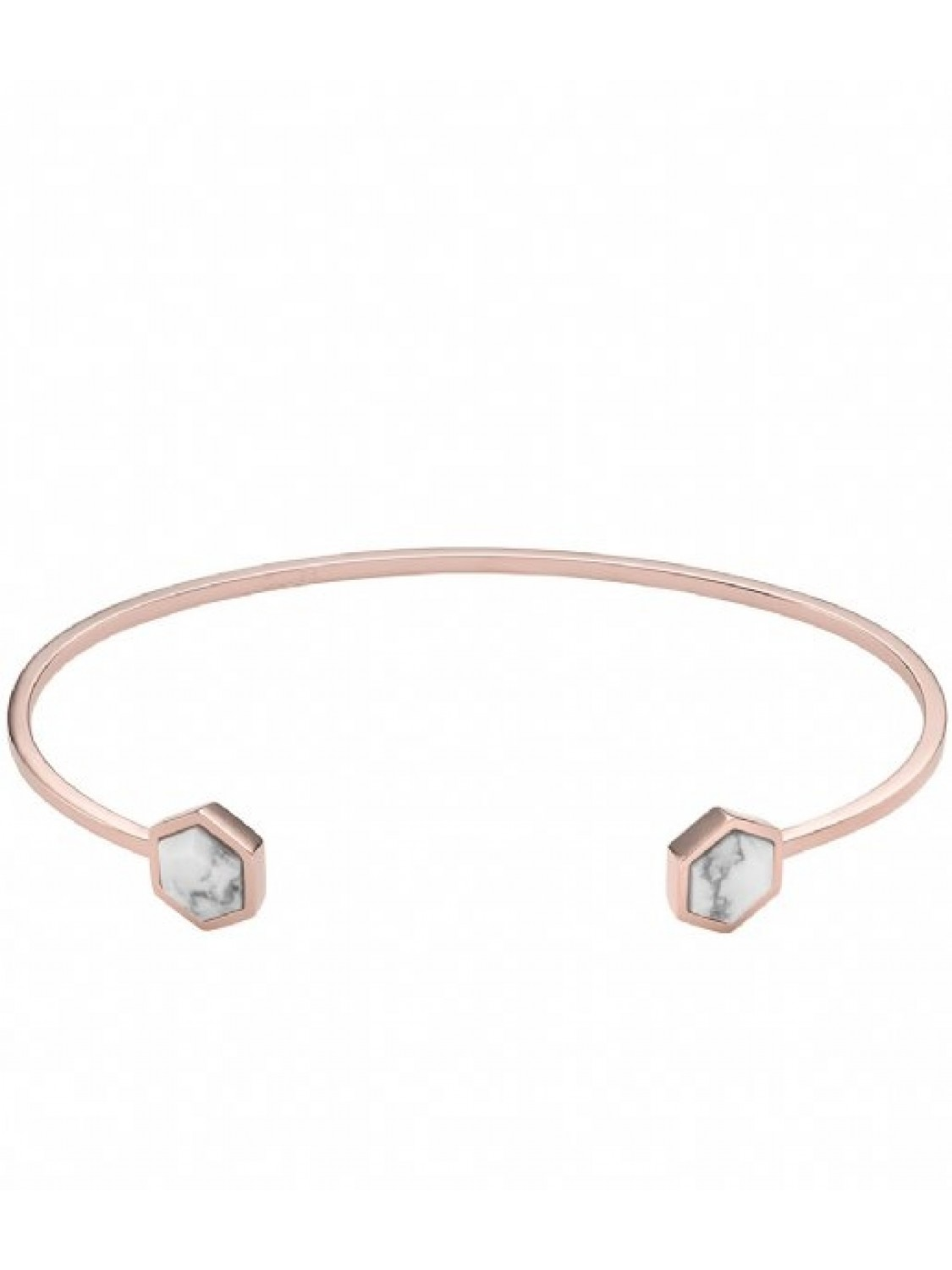 Cluse Rose Gold Marble Hexagon Open Cuff