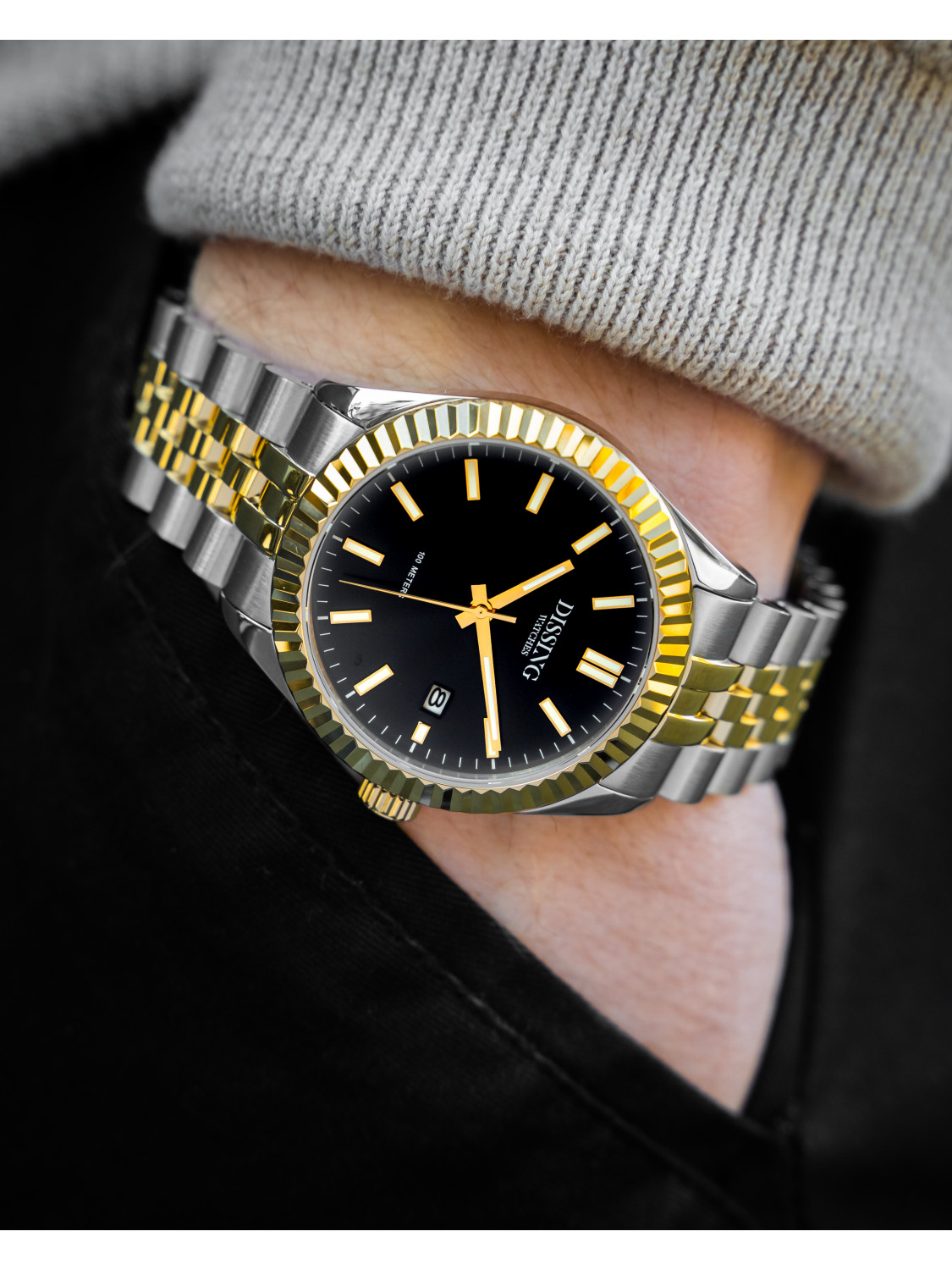 Dissing Two Tone Date Gold/Black-026