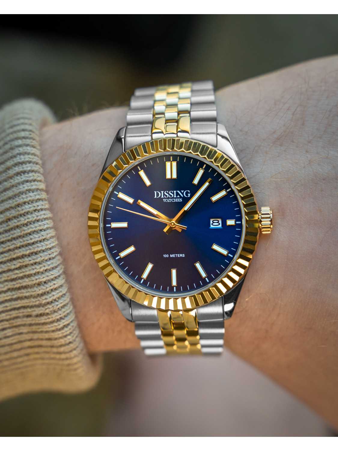 Dissing Two Tone Date Gold/Blue-029