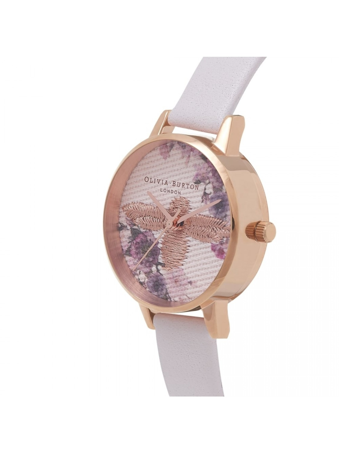 Olivia Burton Midi Emroidered Dial Blush and Rose Gold-35