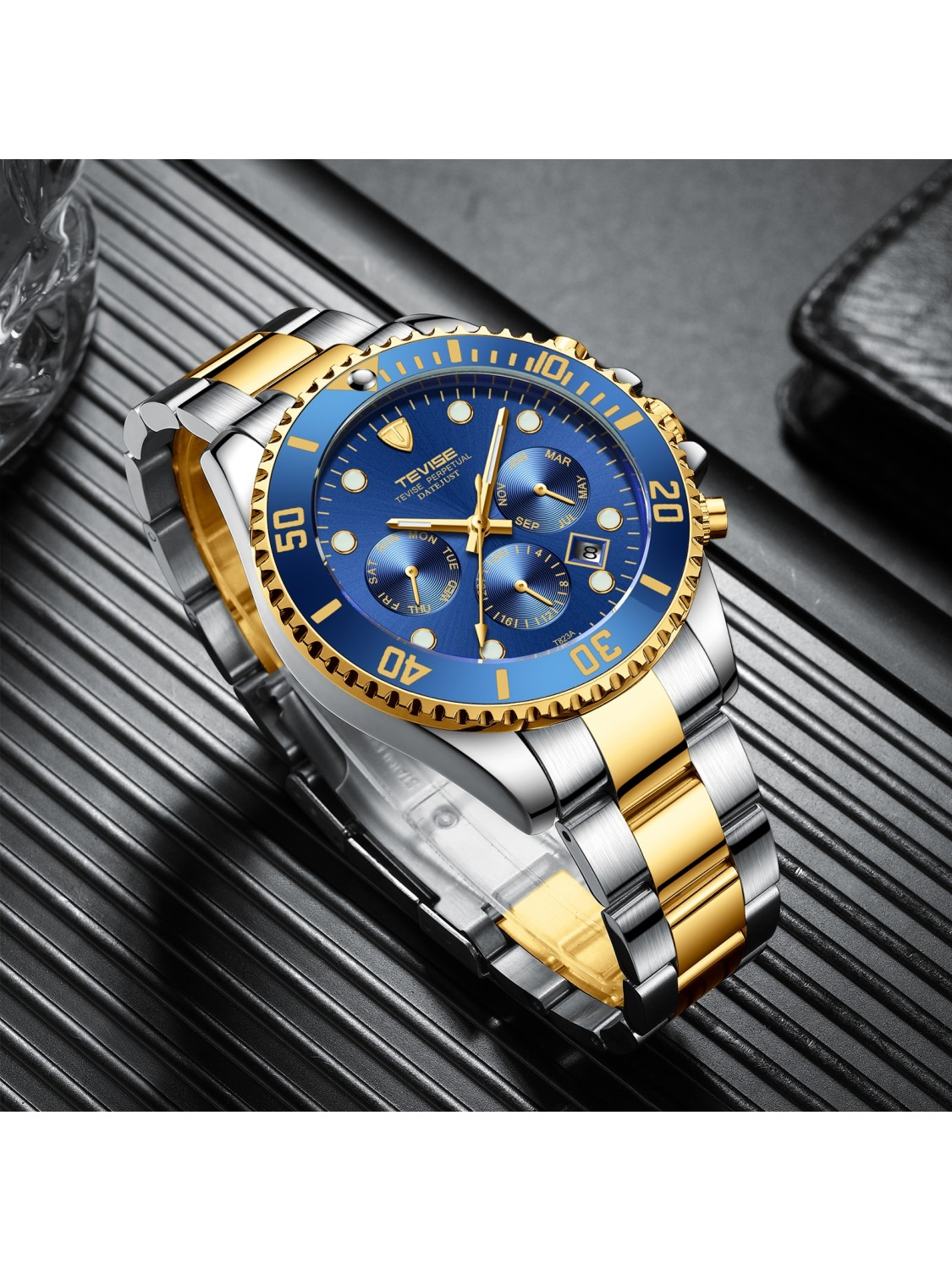 Tevise Perpetual Datejust Blue/Gold-317