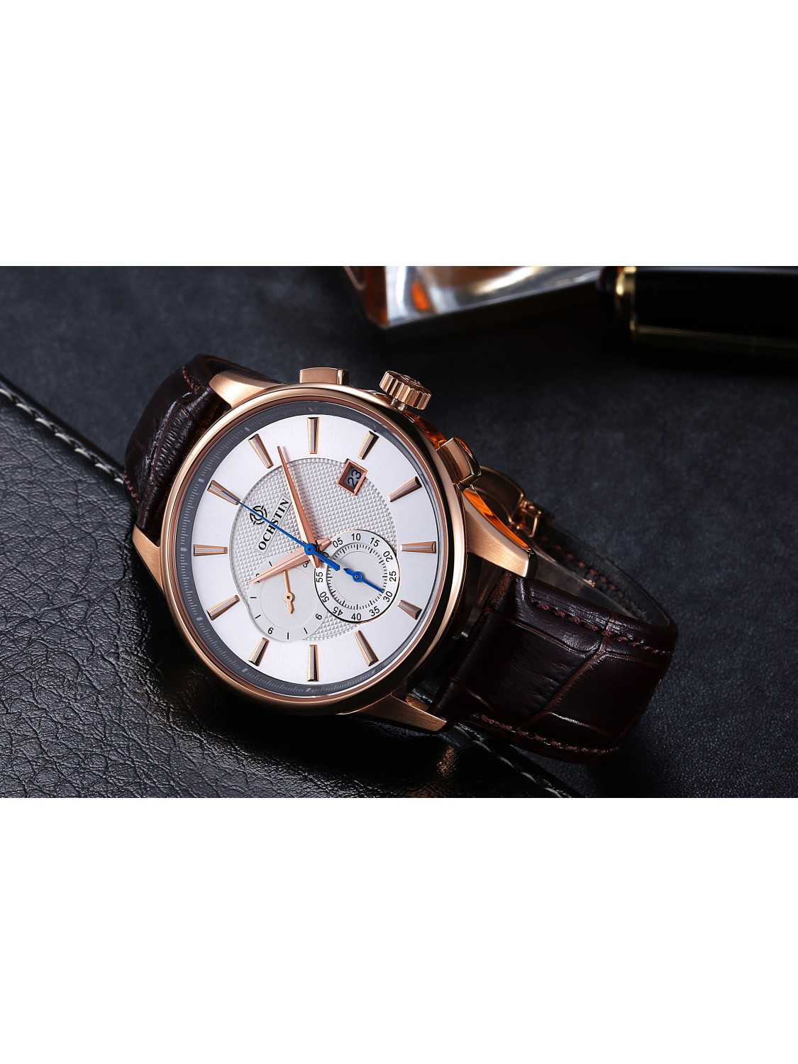 Ochstin chronograph white/gold-012
