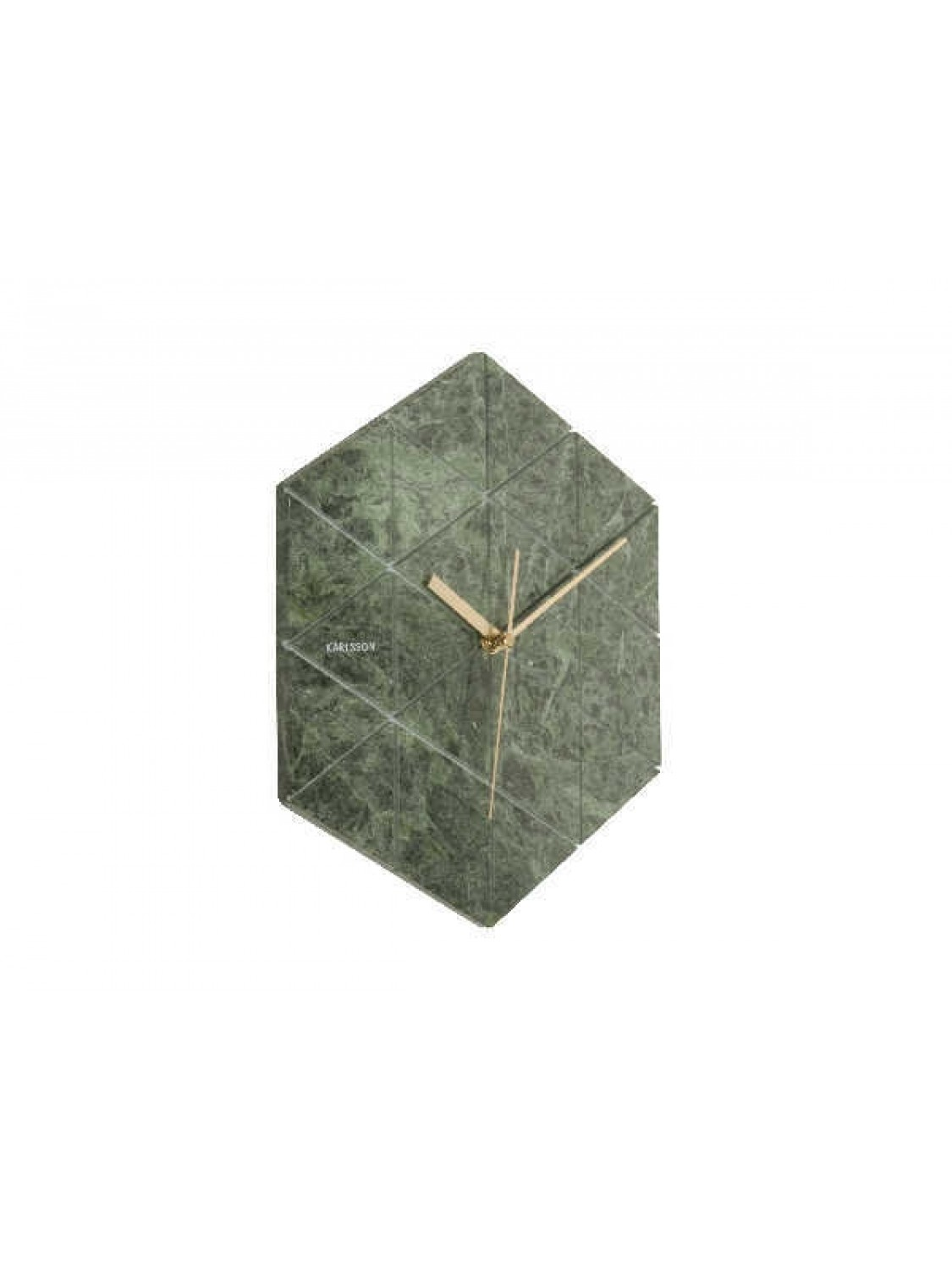 Karlsson Wall clock Marble Hexagon green-384