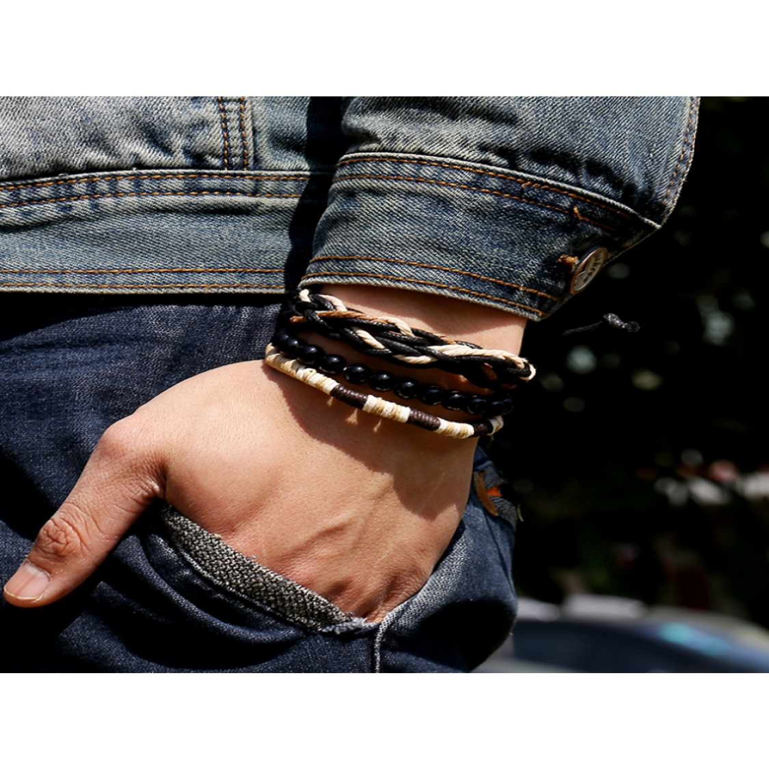 Armbåndssæt med 3 armbånd mænd-032