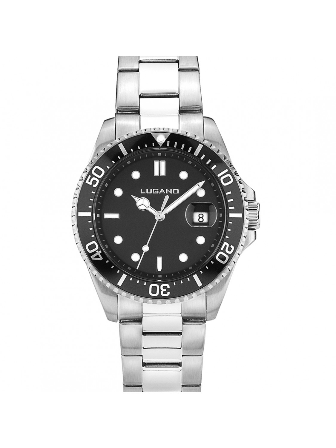 Lugano Diver Steel/Black-327