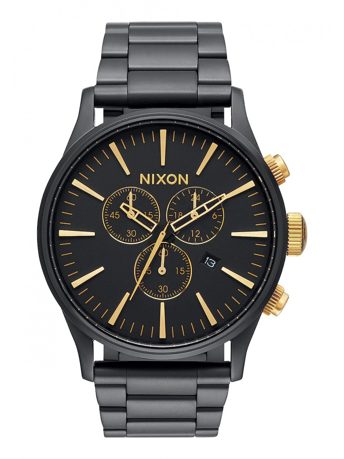 Nixon Sentry Chrono Matte Black/Gold-30
