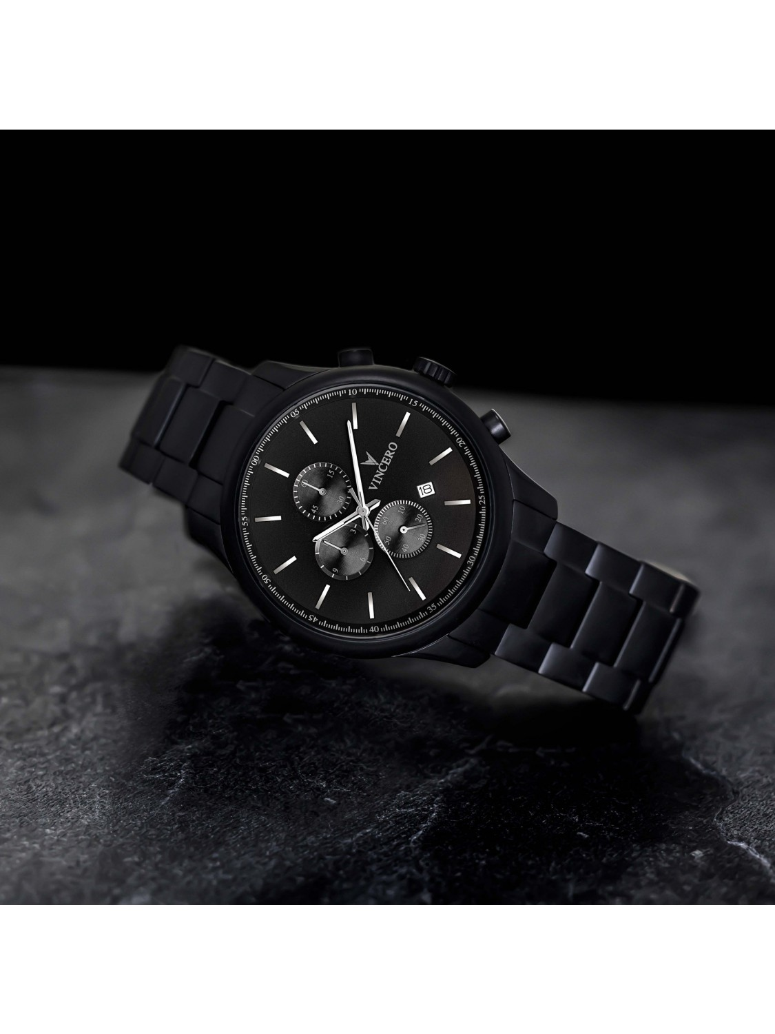 Vincero The Chrono S Black Steel-313