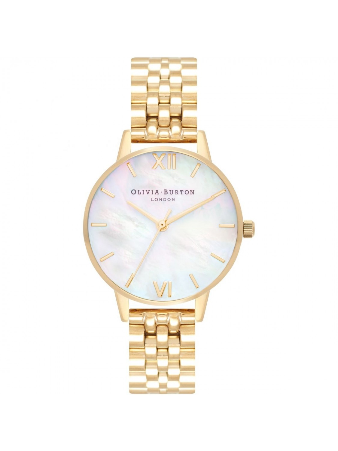 Olivia Burton Mother Of Pearl White Bracelet Gold-314