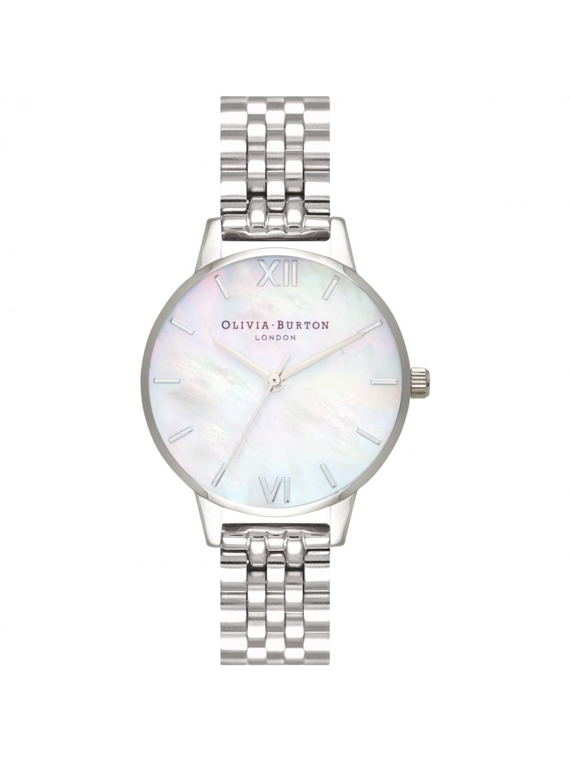 Olivia Burton Mother Of Pearl White Bracelet Silver-317