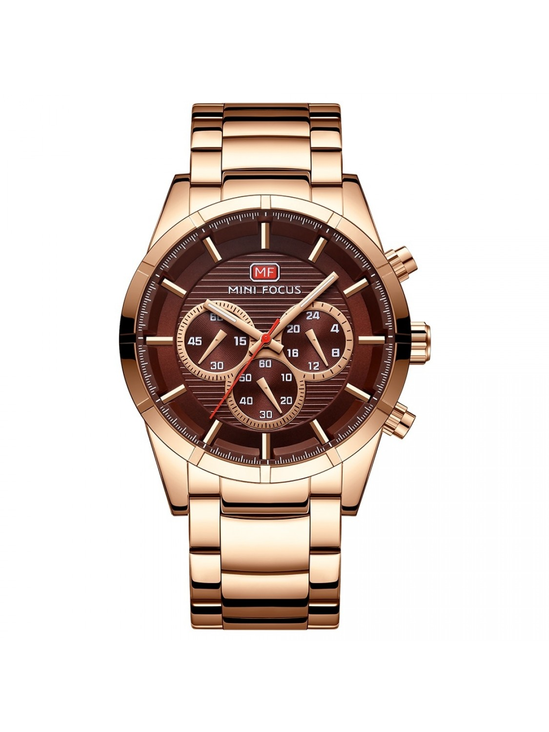 Megir Mini Focus Chrono Gold/Brown-348