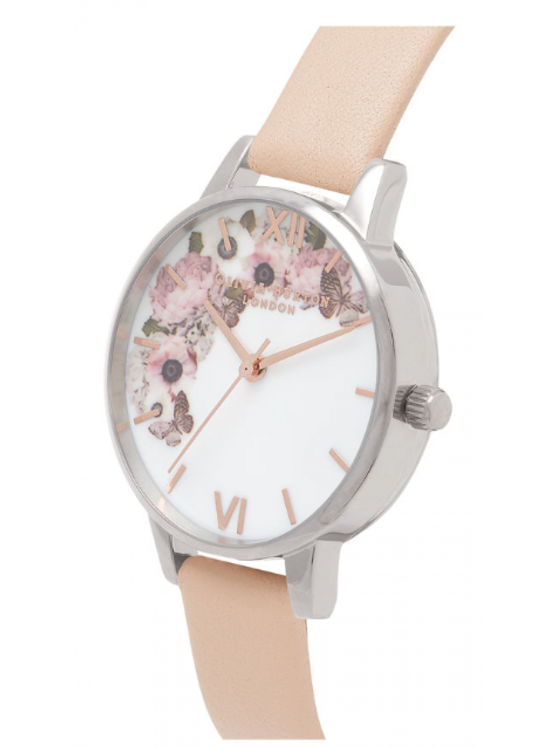 Olivia Burton Floral Peach Silver And Rose Gold-38
