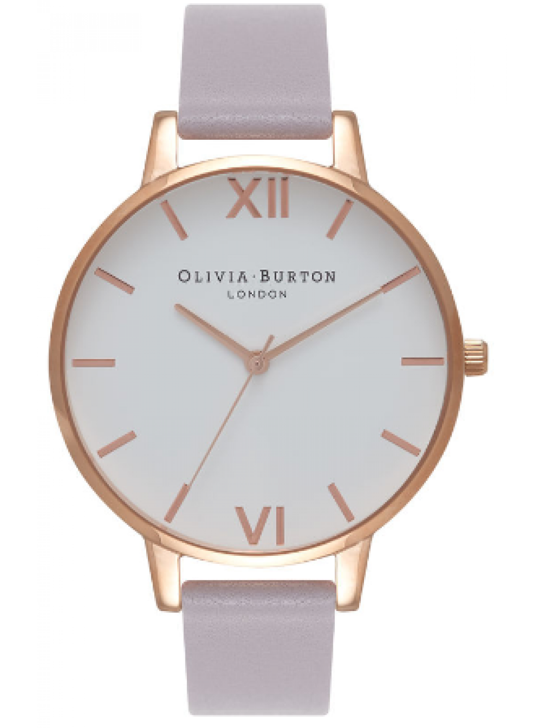 Olivia Burton White Dial Grey Lilac and Rose Gold-31