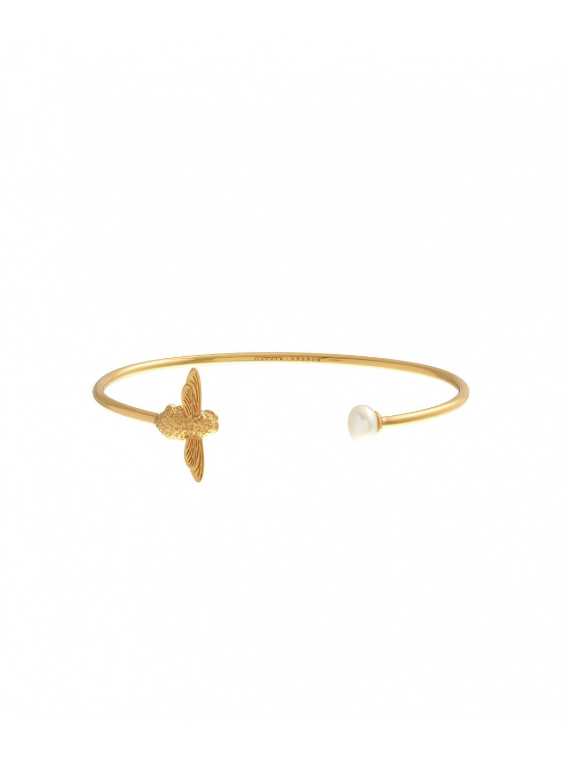 Olivia Burton Bee Pearl Bangle Gold-322