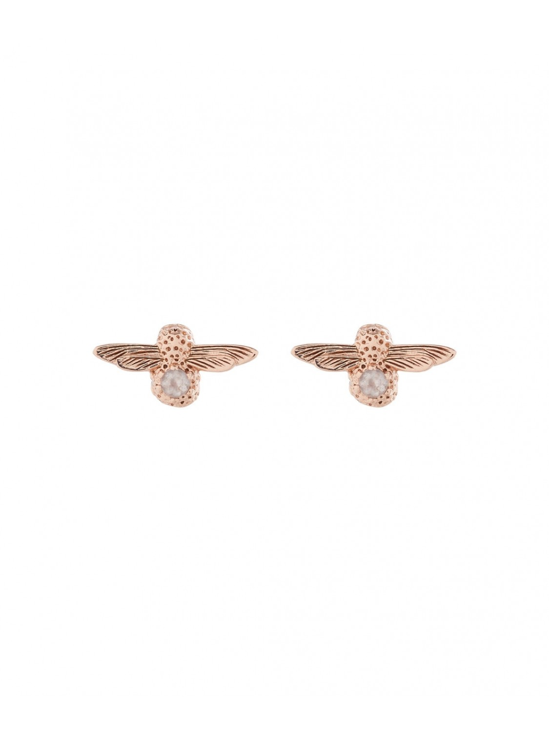 Olivia Burton Bee Stud Earrings Gold Stone-319
