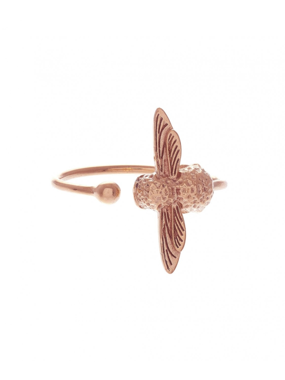 Olivia Burton Bee Rose Gold Ring-321
