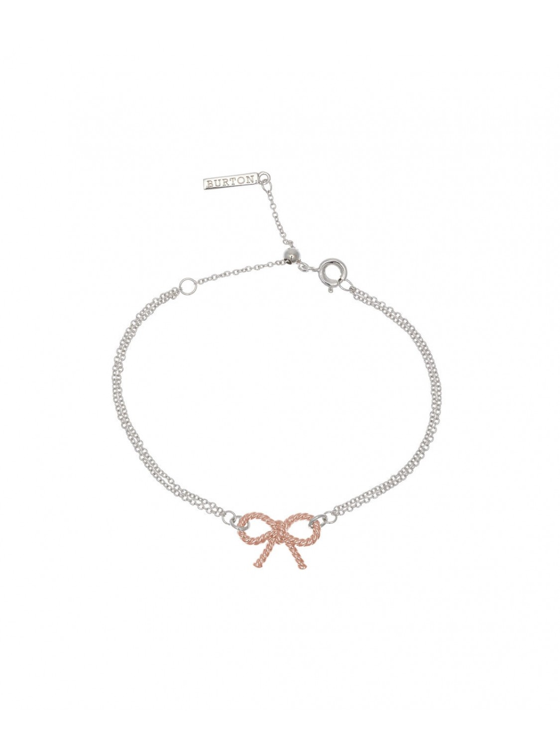 Olivia Burton Bow Coin Bracelet Silver And Rose Gold-323