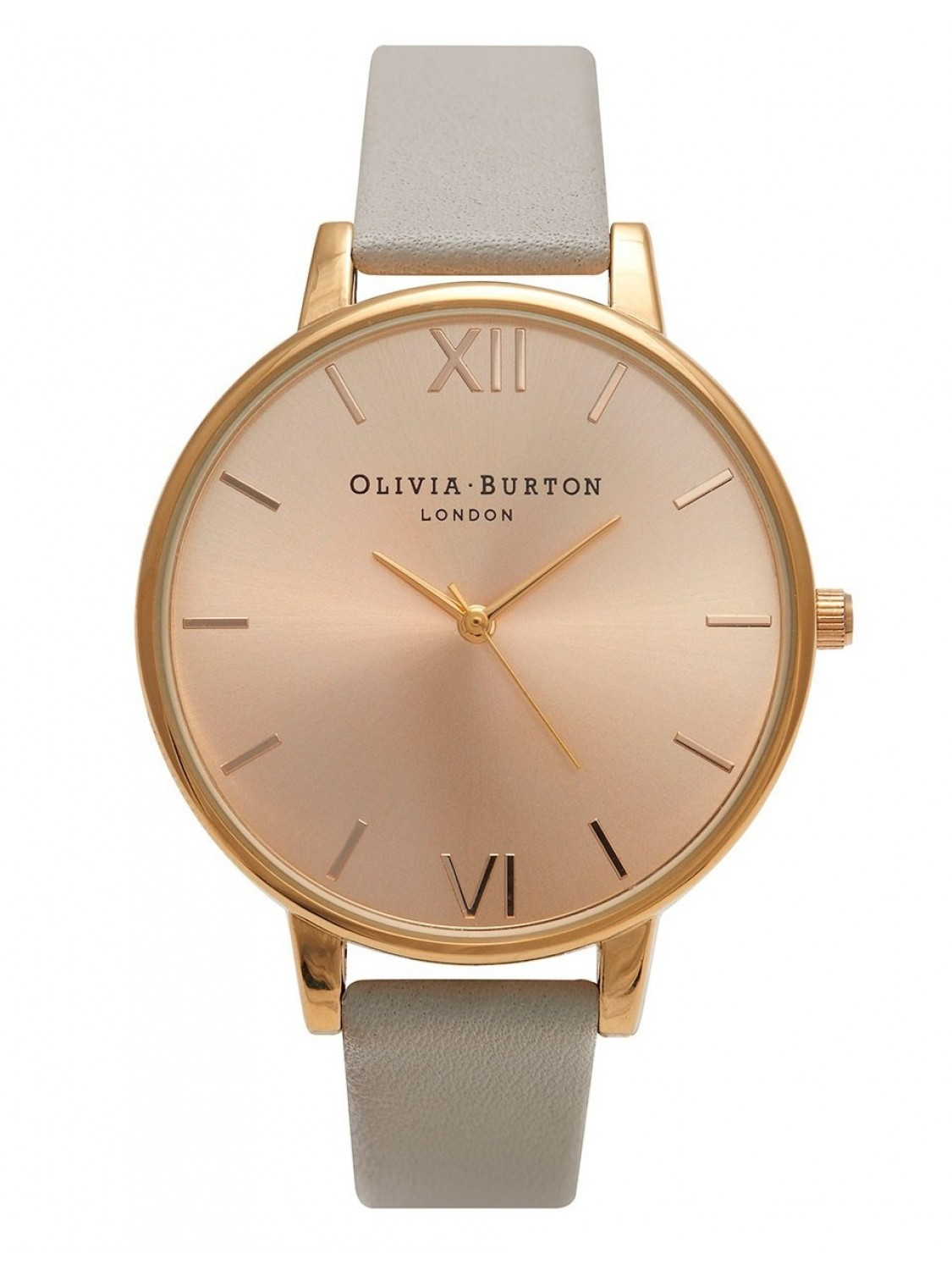 Olivia Burton Big Dial Grey and Gold-38