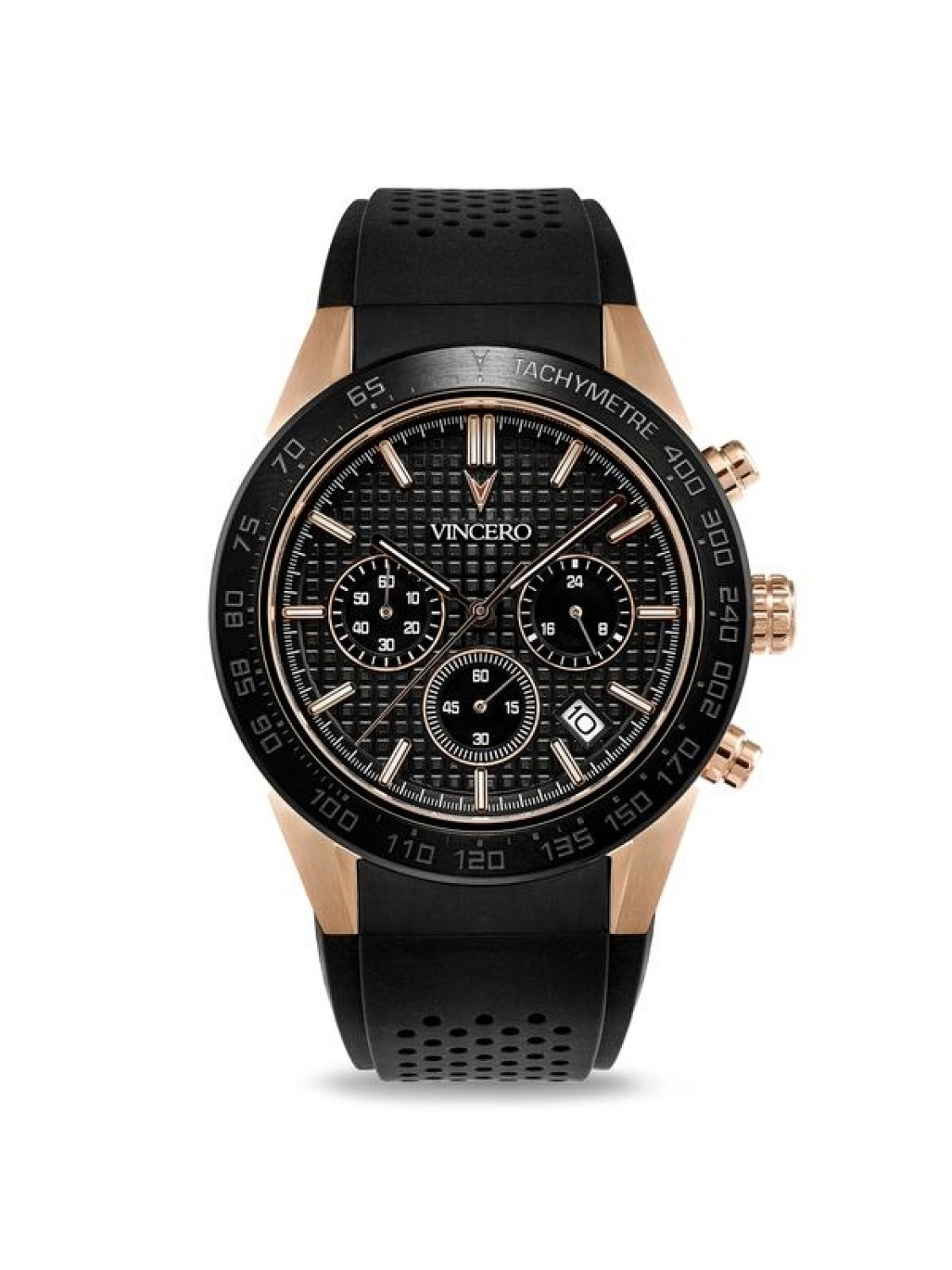 Vincero Rogue Black and Rose Gold-08