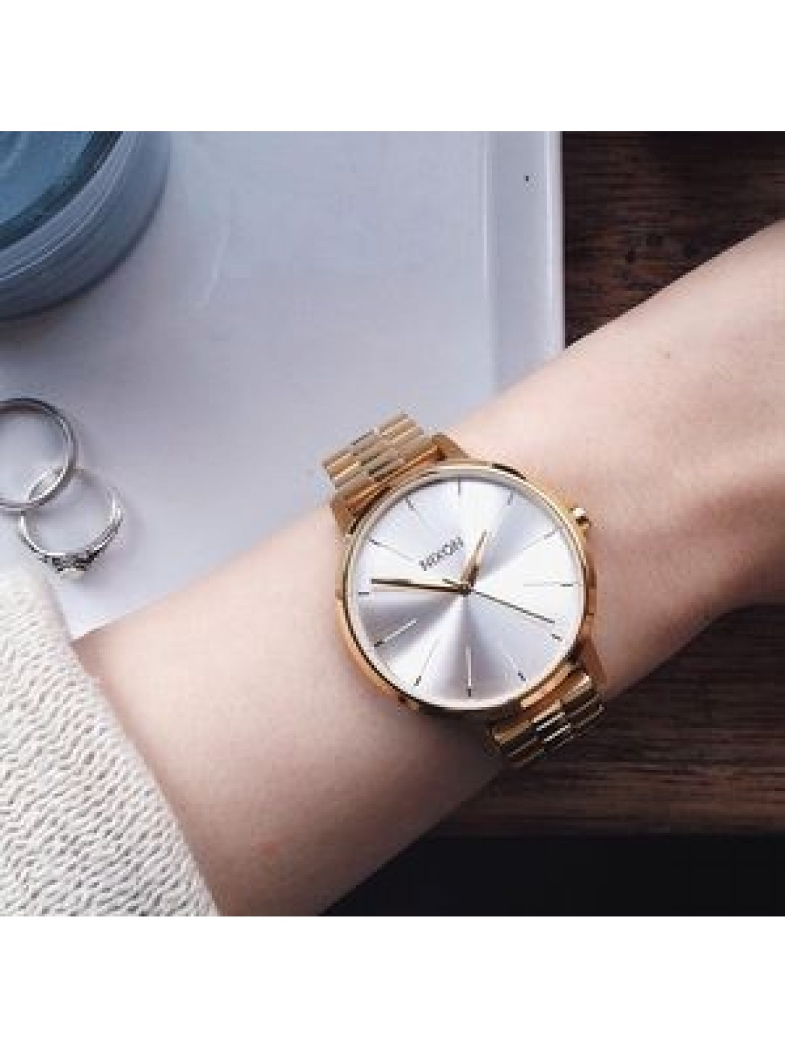 Nixon Kensington Gold/White-00
