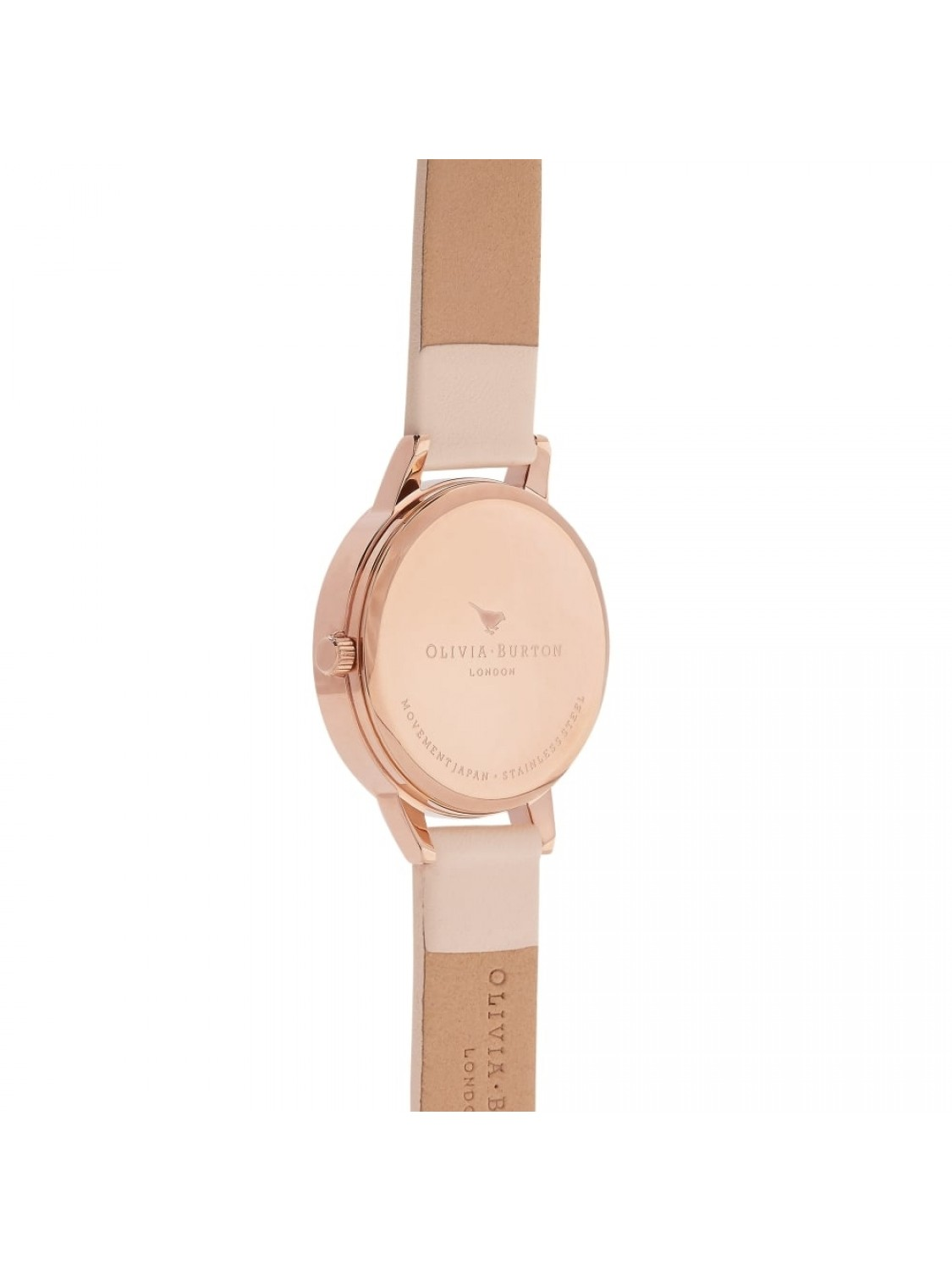 Olivia Burton Queen Bee T-Bar Nude Peach and Rose Gold-316