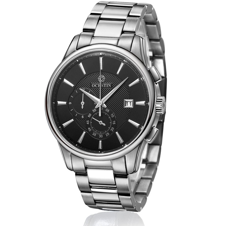 Ochstin chronograph Black/Silver Steel-316