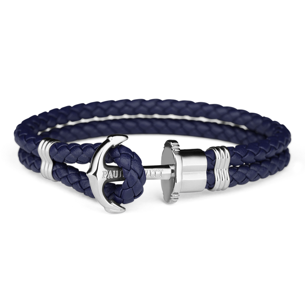 Paul Hewitt Anchor Bracelet Silver Blue-30