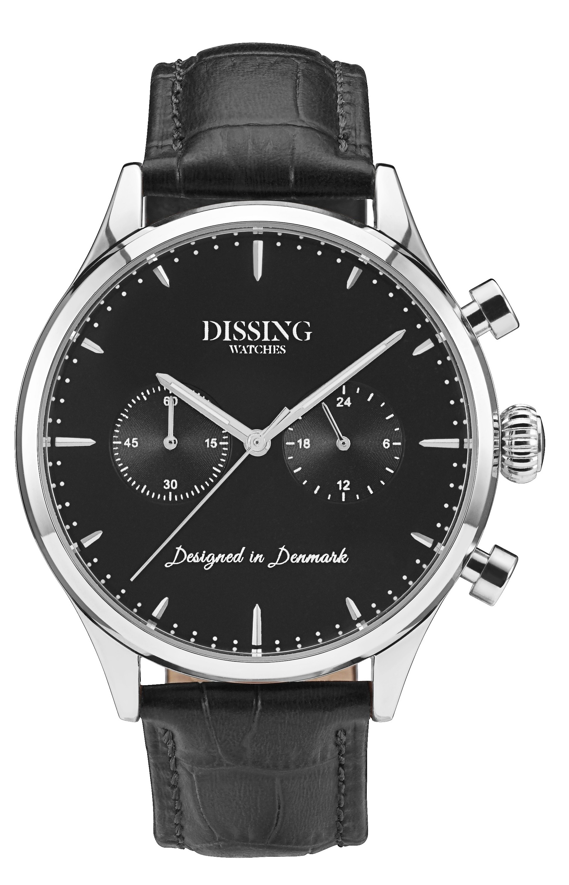 Dissing Black Leather Silver/Black-36