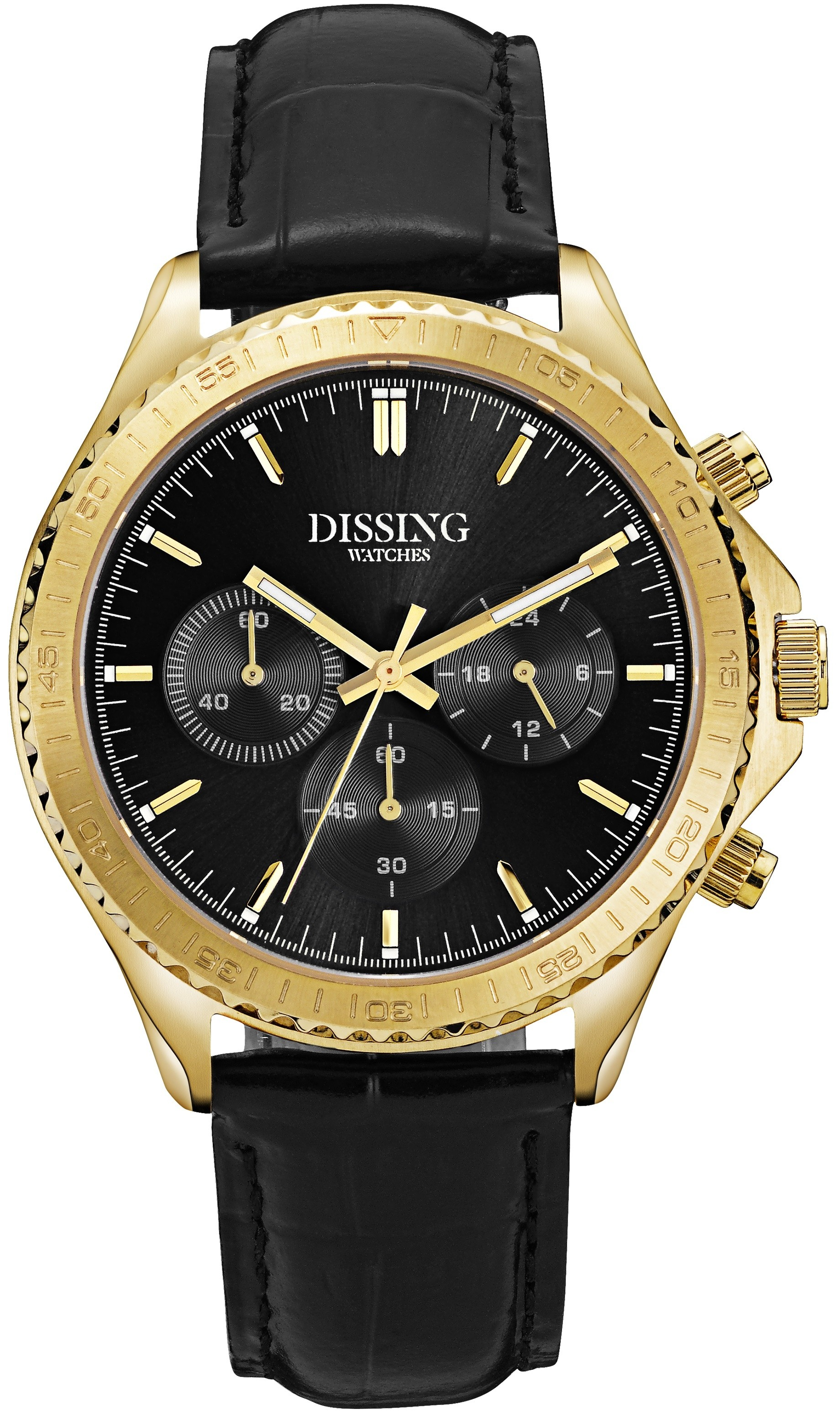 Dissing MK5 Black/Gold Leather-349
