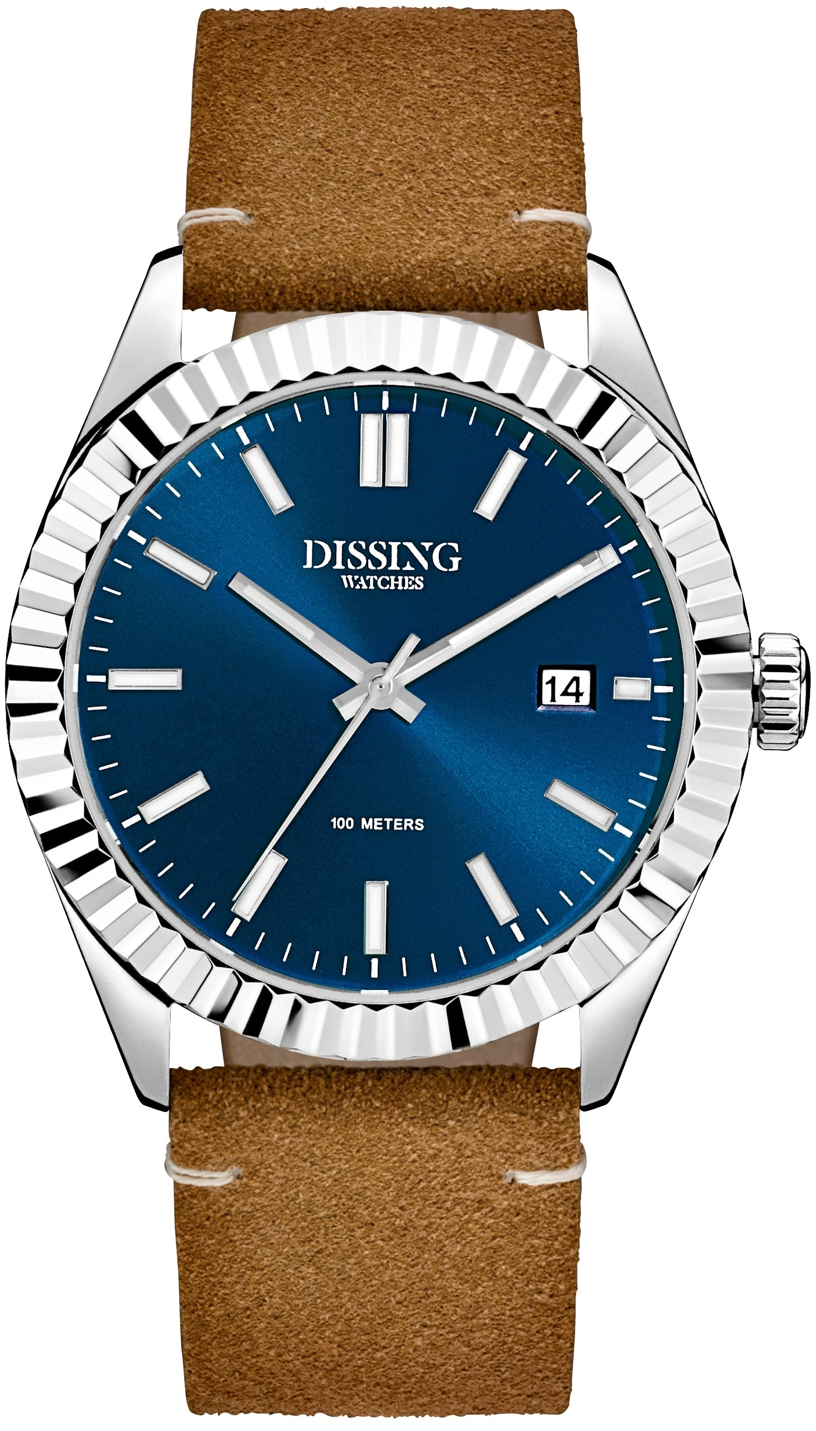 Dissing Date Leather Steel/Blue-341