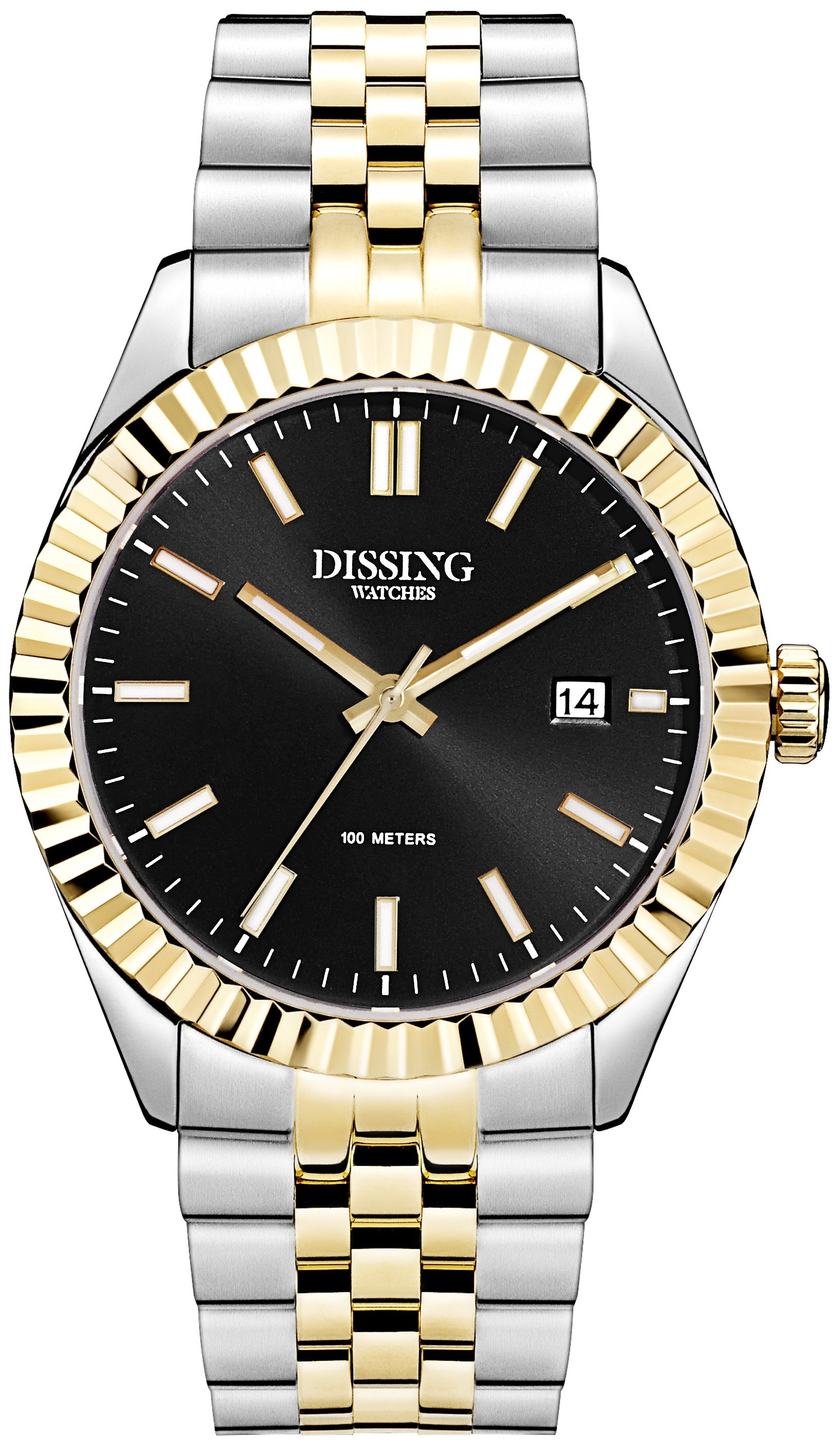 Dissing Two Tone Date Gold/Black-326