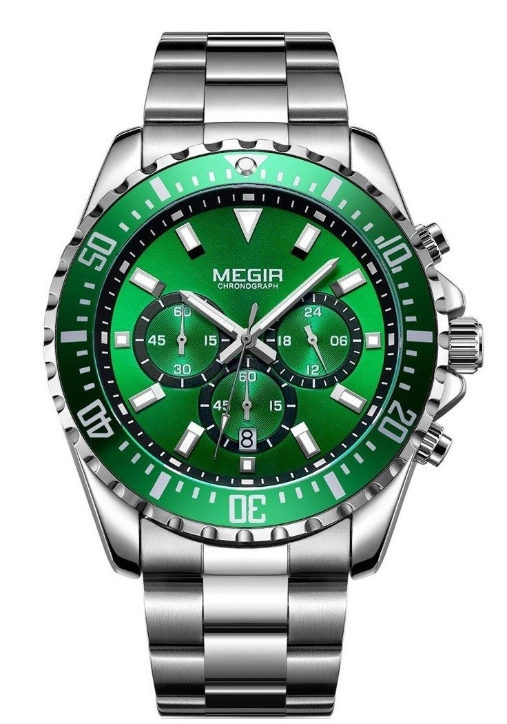 Megir Aviator Steel/Green-325