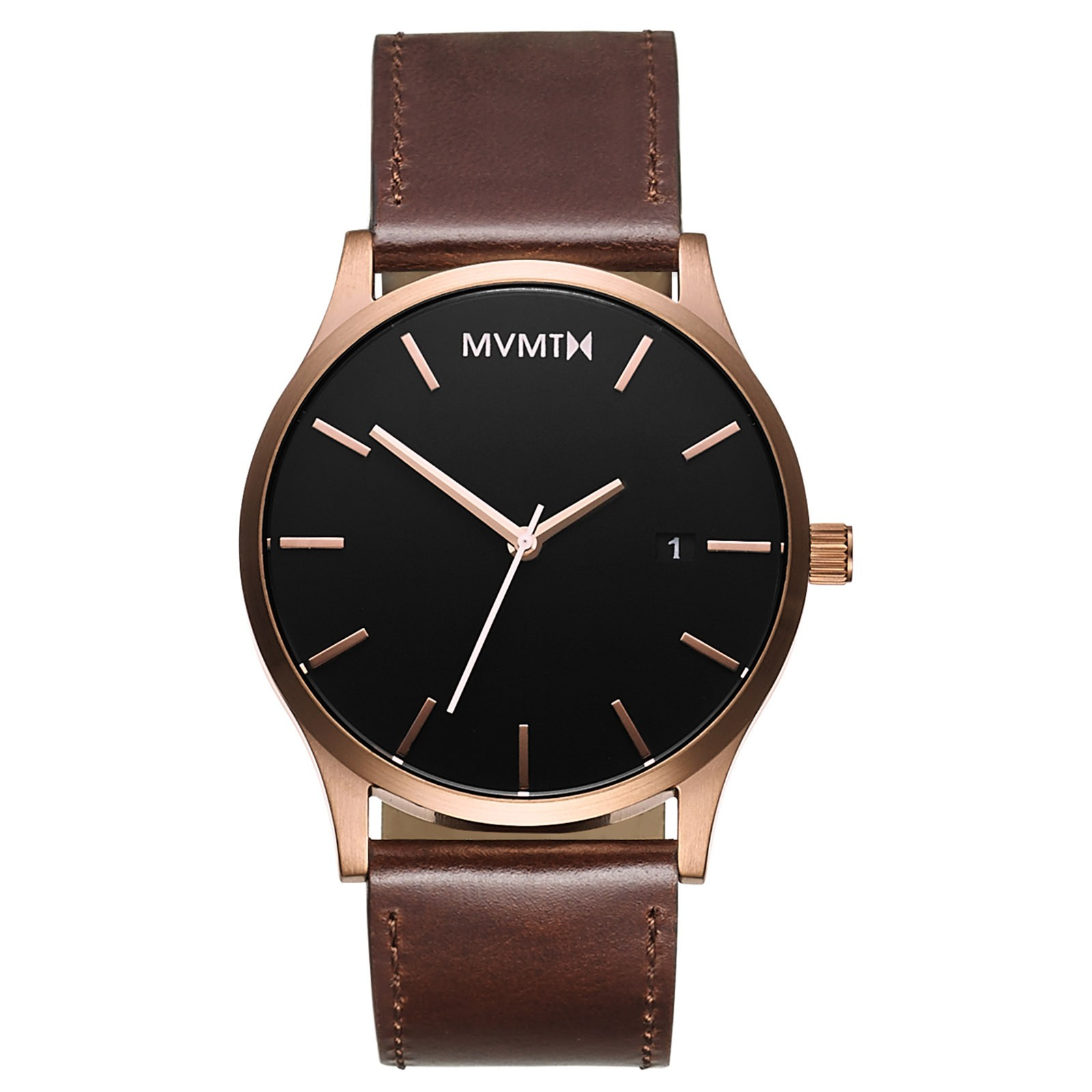 MVMT Rosegold / Brown Leather-30