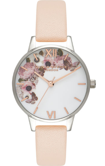 Olivia Burton Floral Peach Silver And Rose Gold-311