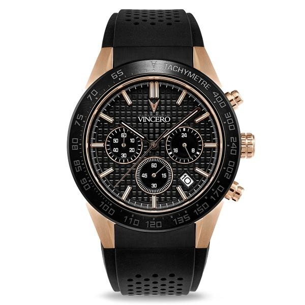 Vincero Rogue Black and Rose Gold-38