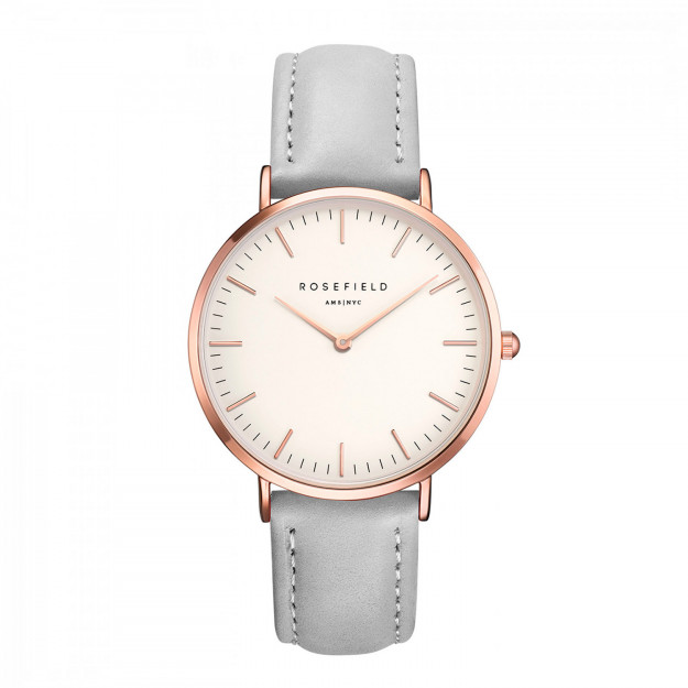Rosefield The Bowery White Grey Rose Gold-30