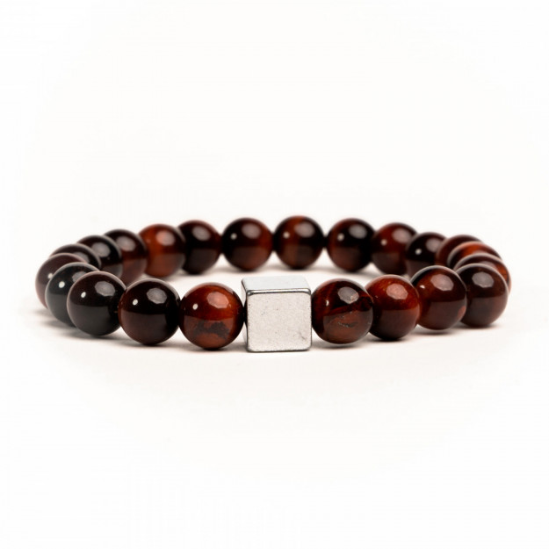 Eye Stone Handmade Bracelet Red-31