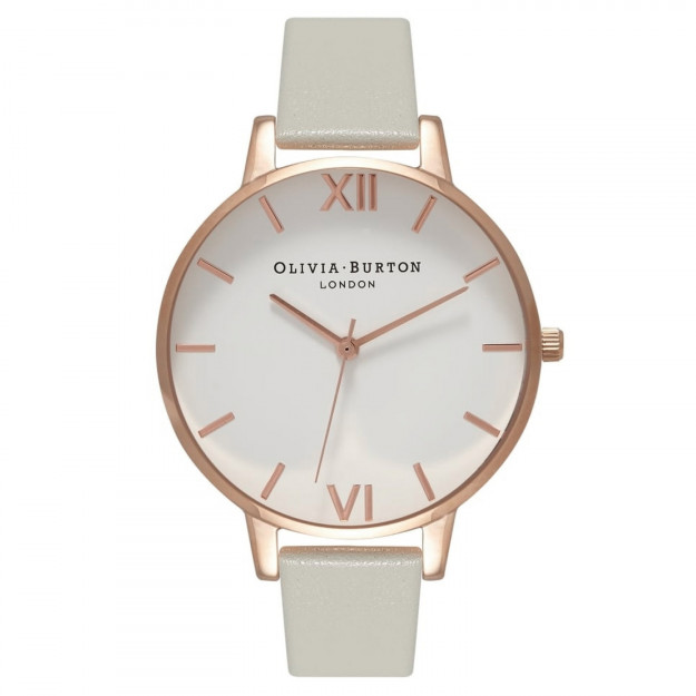 Olivia Burton Big Dial Grey and Rose Gold-30