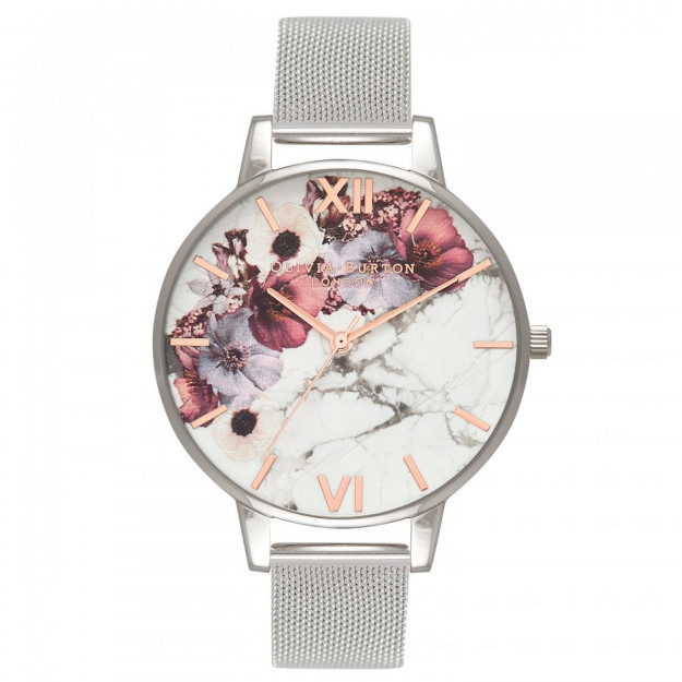 Olivia Burton Marble Floral Mesh Rose Gold and Silver-35