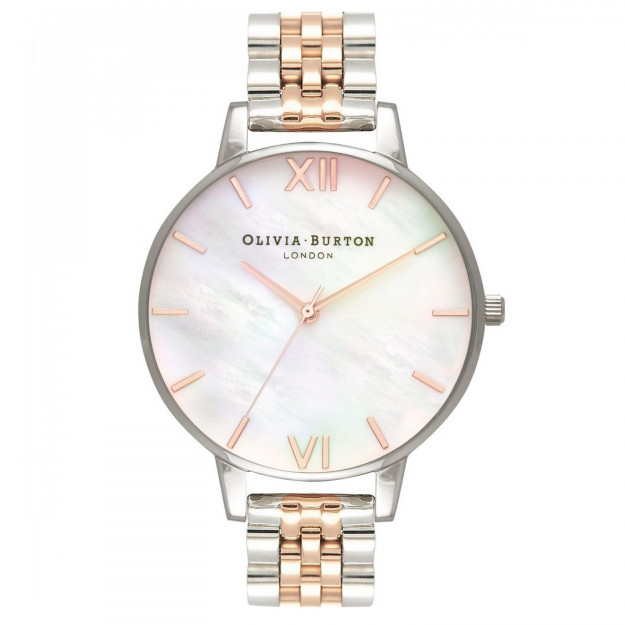 Olivia Burton Mother Of Pearl White Bracelet Rose Gold and Silver-35