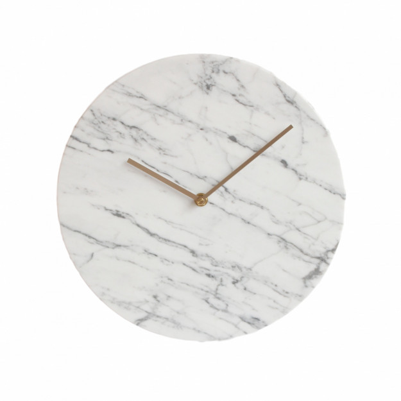 Wall Clock White Marble 25 cm-35