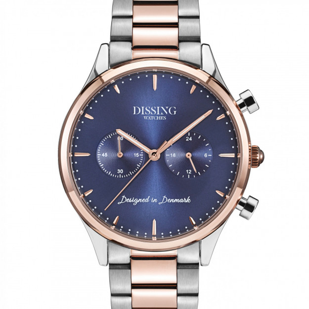 Dissing Steel Two Tone Rose Gold/Blue-30