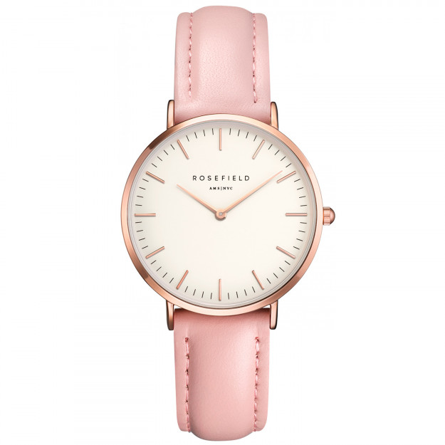 Rosefield The Tribeca White Pink Rose Gold-30