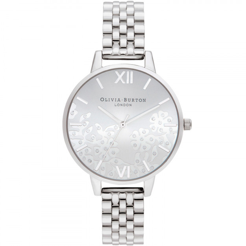 Olivia Burton Bejewlled Lace Silver Bracelet-319
