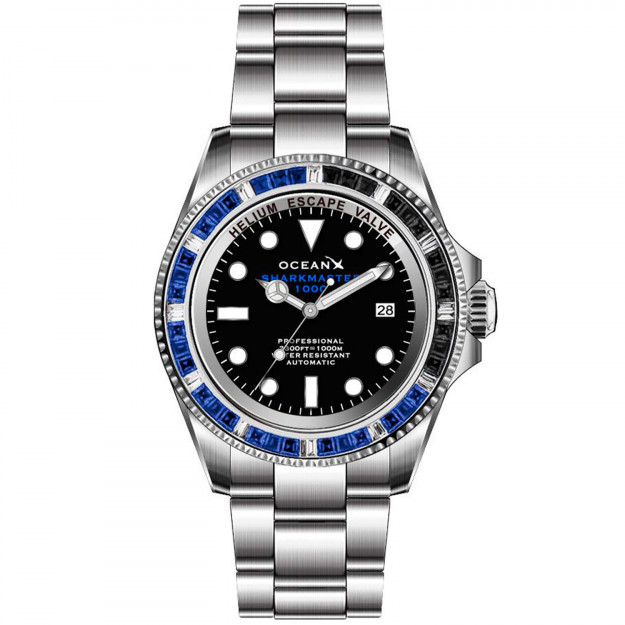 OceanX Sharkmaster Limited Edition 1000 Meters Automatic Diver SMS1044-34