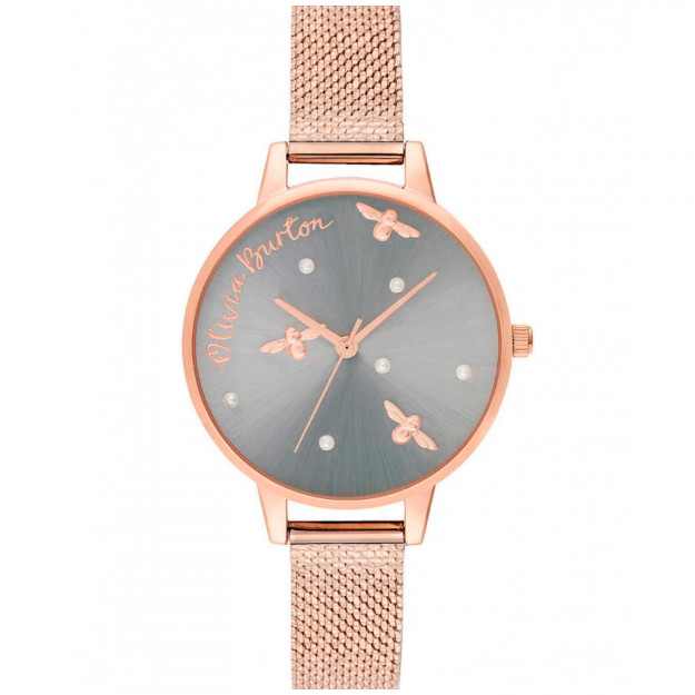 Olivia Burton Pearly Queen Pearl Detail Rose Gold-32