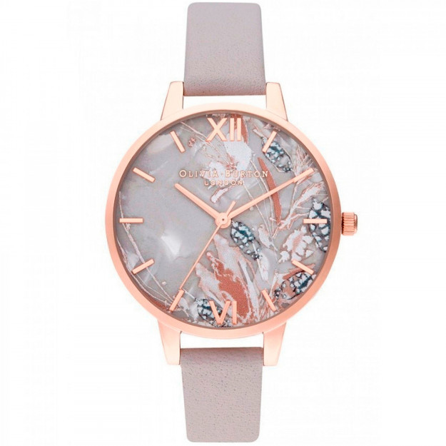 Olivia Burton Abstract Florals Rose Gold-319