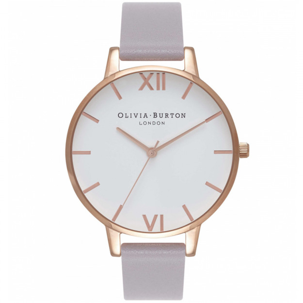 Olivia Burton White Dial Grey Lilac and Rose Gold-323