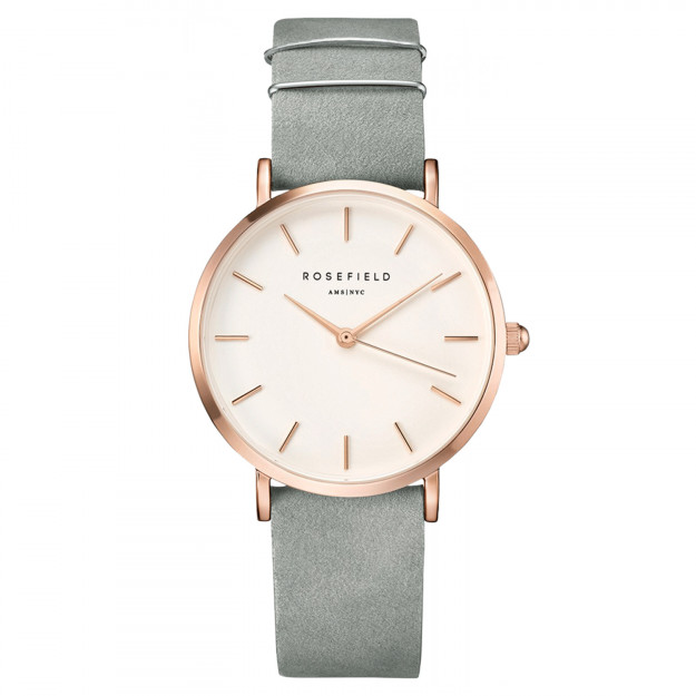 Rosefield The West Village Mint Grey Rose Gold-30
